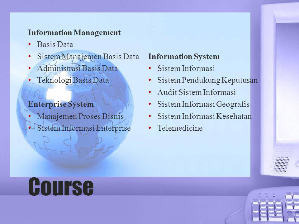 Course Information Management Basis Data Sistem Manajemen Basis Data
