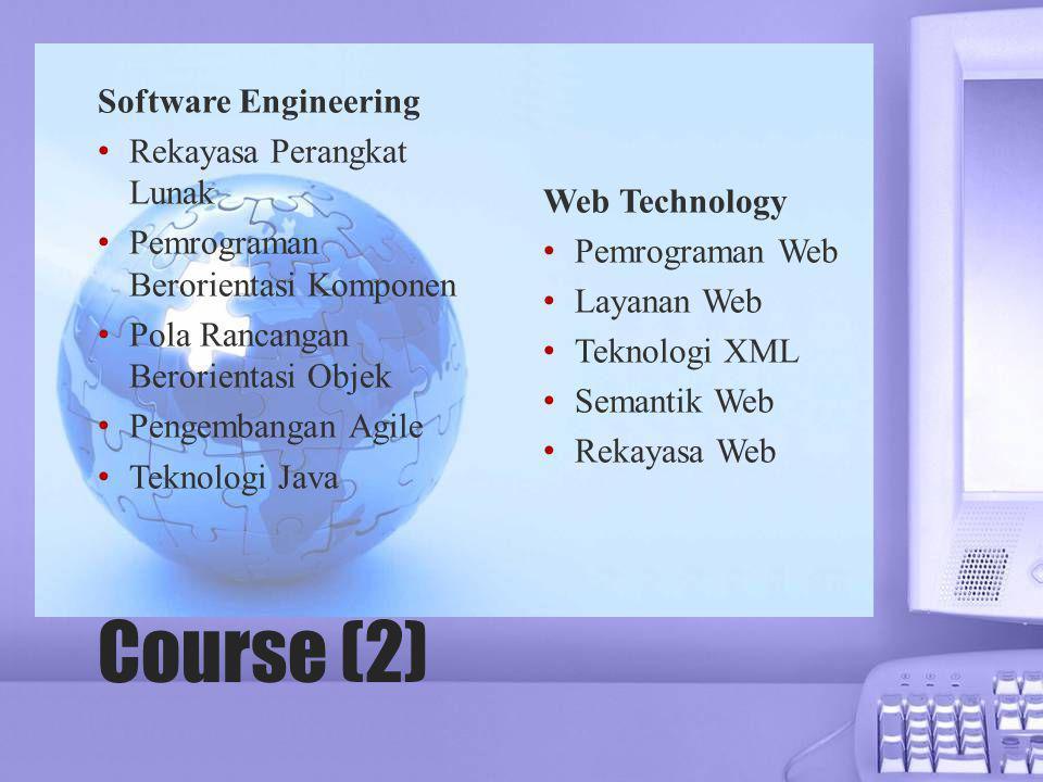 Course (2) Software Engineering Rekayasa Perangkat Lunak