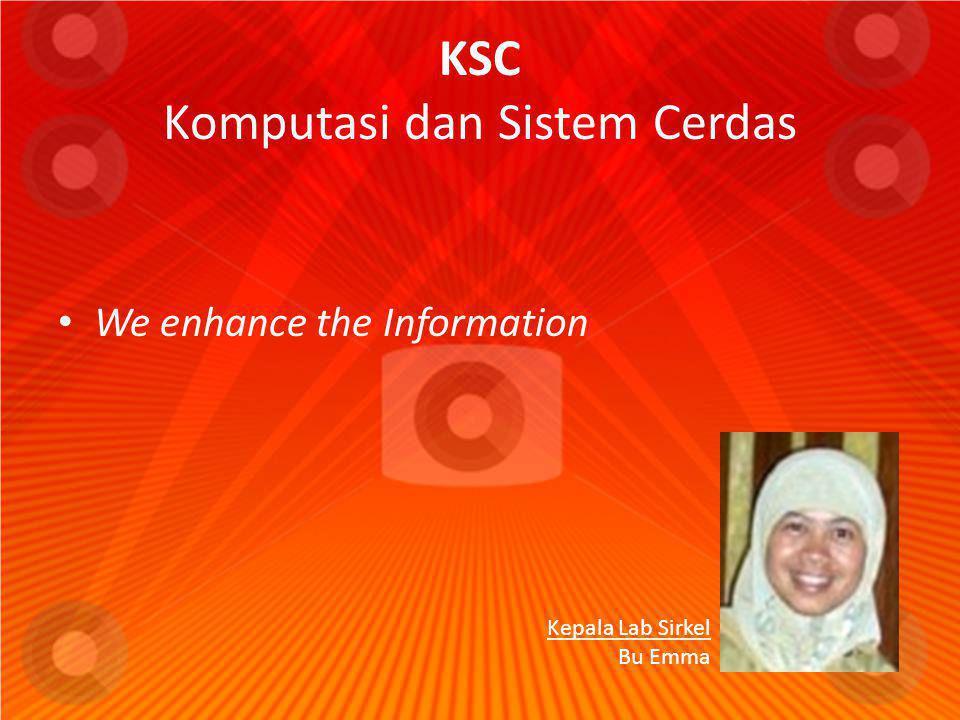 KSC Komputasi dan Sistem Cerdas