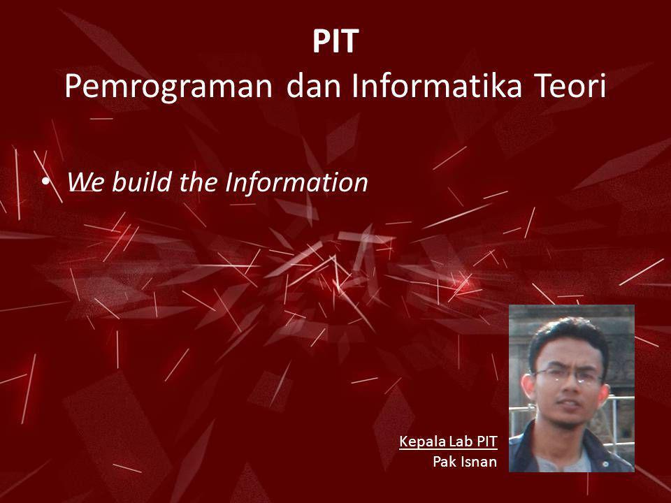 PIT Pemrograman dan Informatika Teori