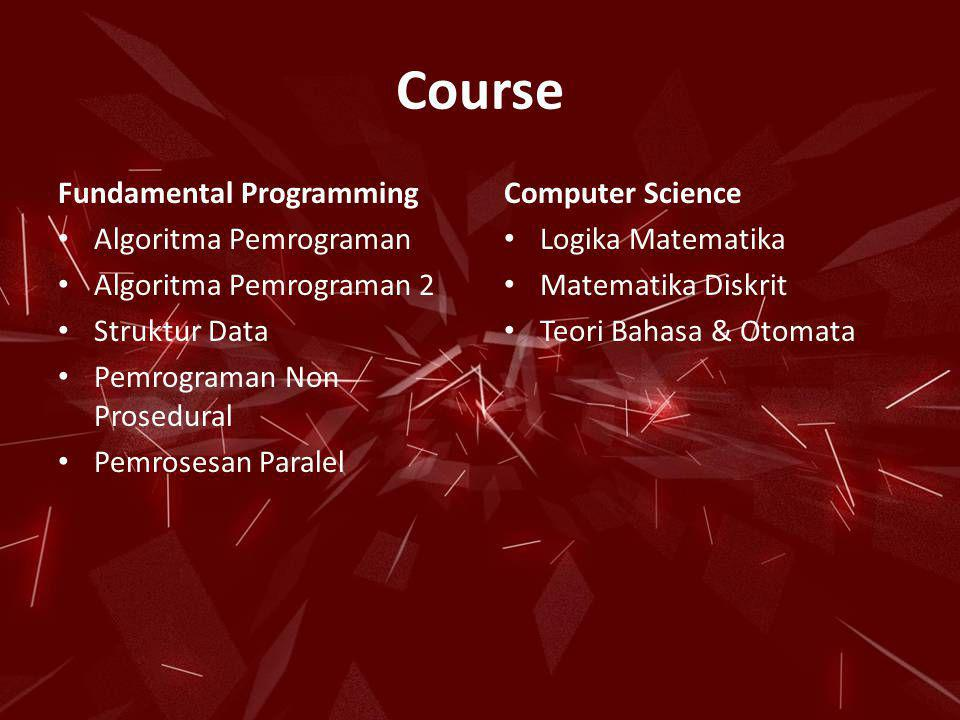 Course Fundamental Programming Computer Science Algoritma Pemrograman