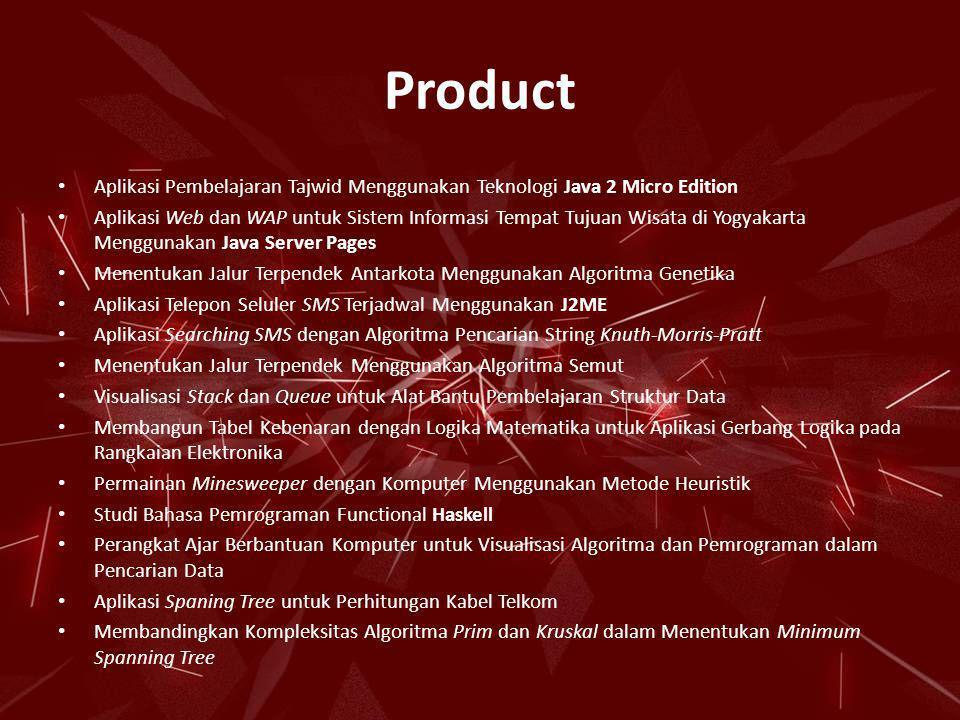 Product Aplikasi Pembelajaran Tajwid Menggunakan Teknologi Java 2 Micro Edition.