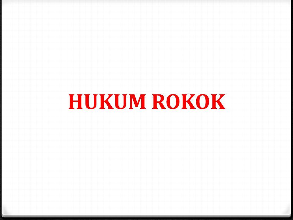 HUKUM ROKOK