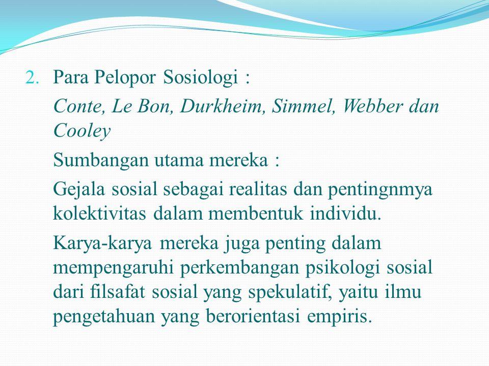 Para Pelopor Sosiologi :