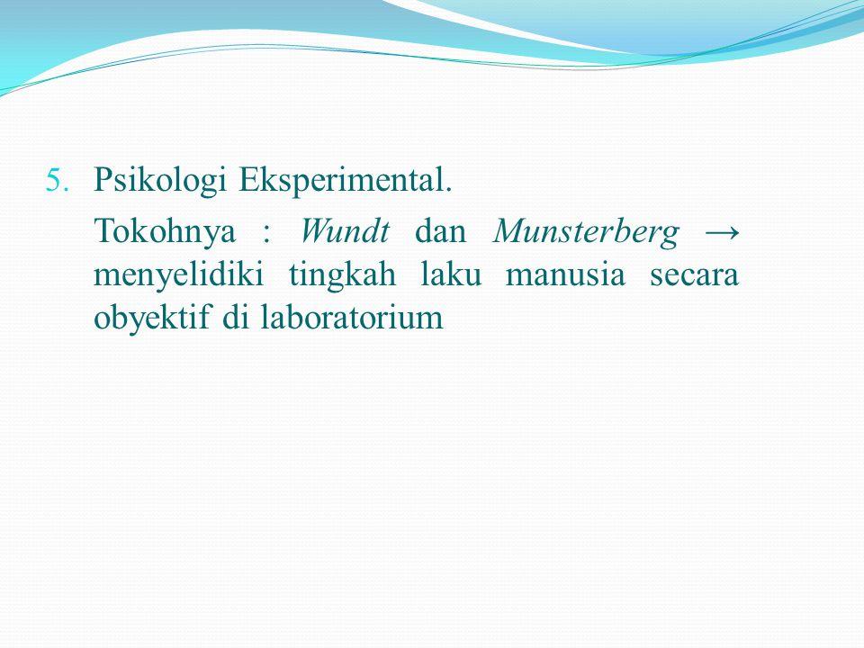 Psikologi Eksperimental.
