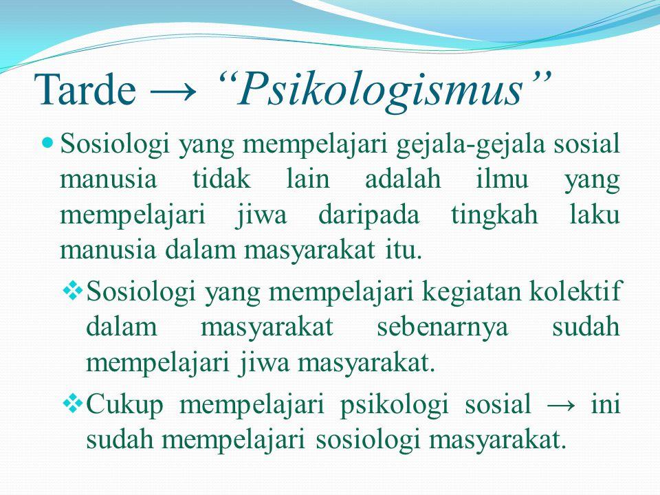 Tarde → Psikologismus