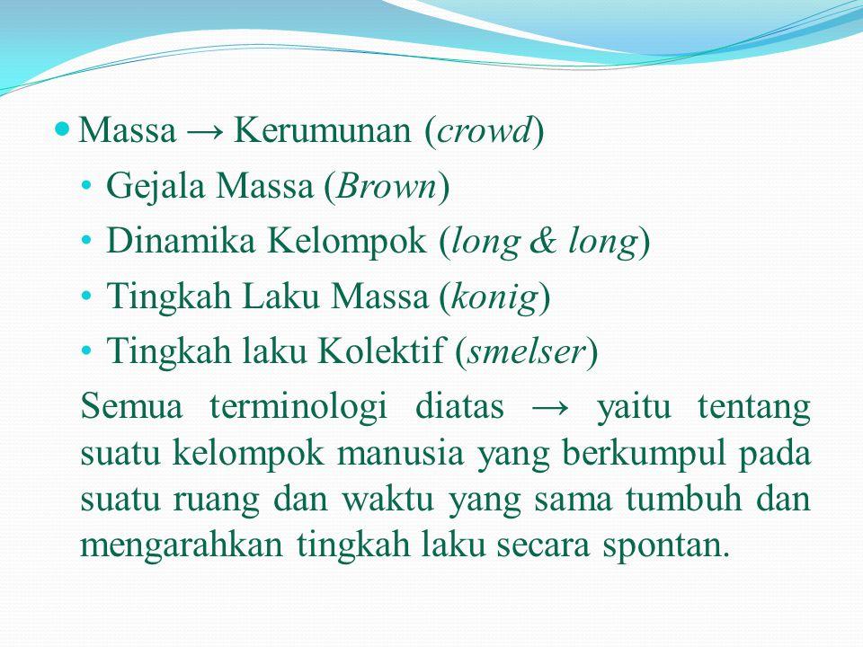 Massa → Kerumunan (crowd)
