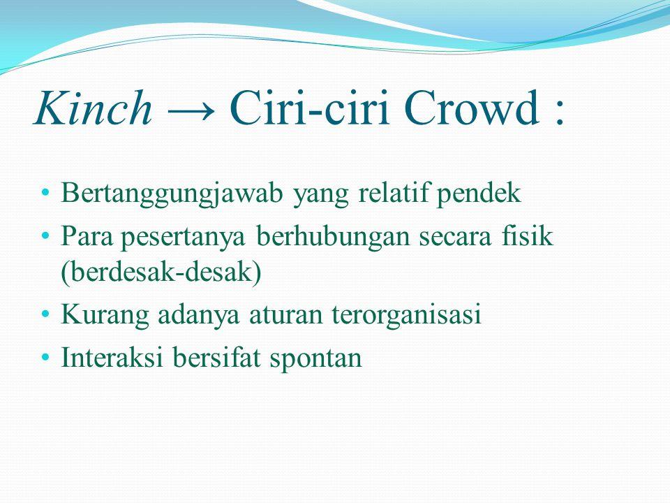Kinch → Ciri-ciri Crowd :