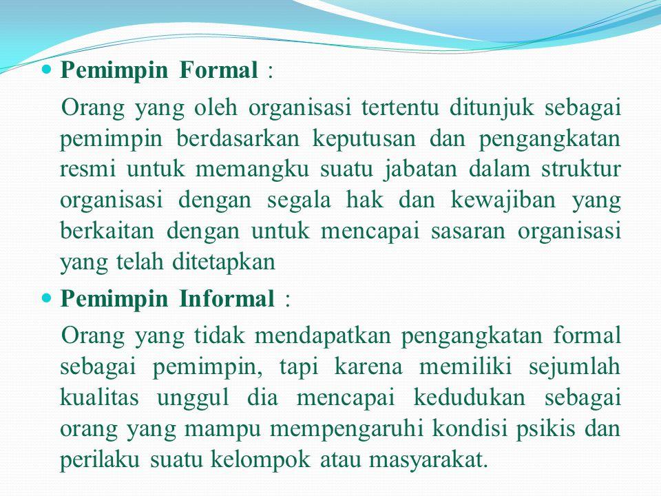 Pemimpin Formal :