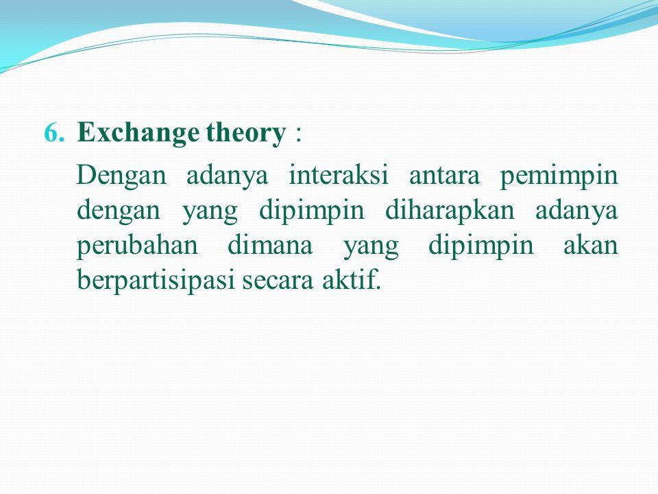 Exchange theory :