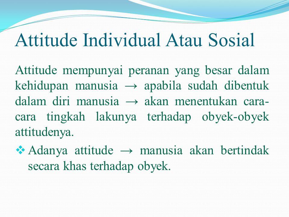 Attitude Individual Atau Sosial