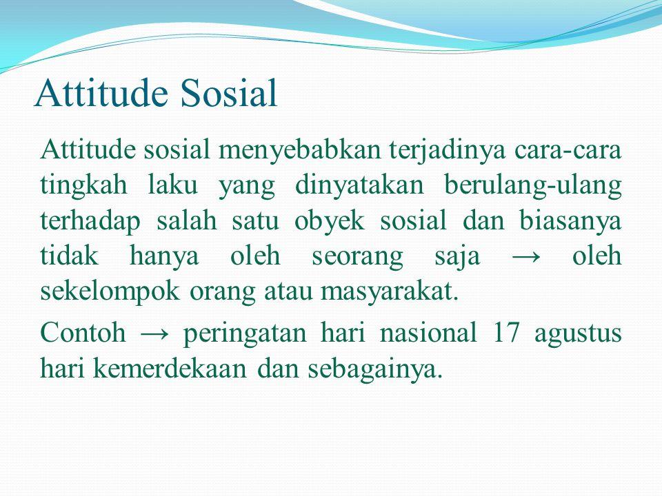 Attitude Sosial
