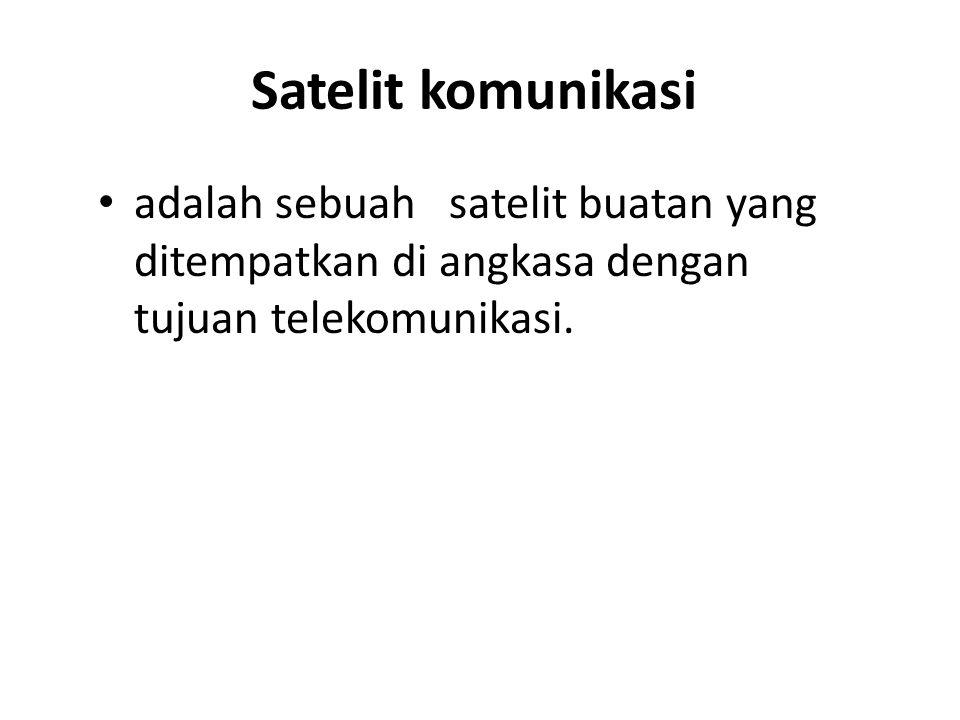 Satelit komunikasi adalah sebuah satelit buatan yang ditempatkan di angkasa dengan tujuan telekomunikasi.