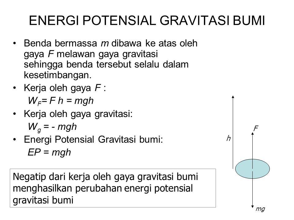 ENERGI POTENSIAL GRAVITASI BUMI