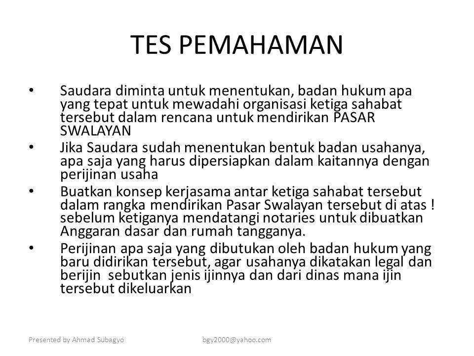 TES PEMAHAMAN