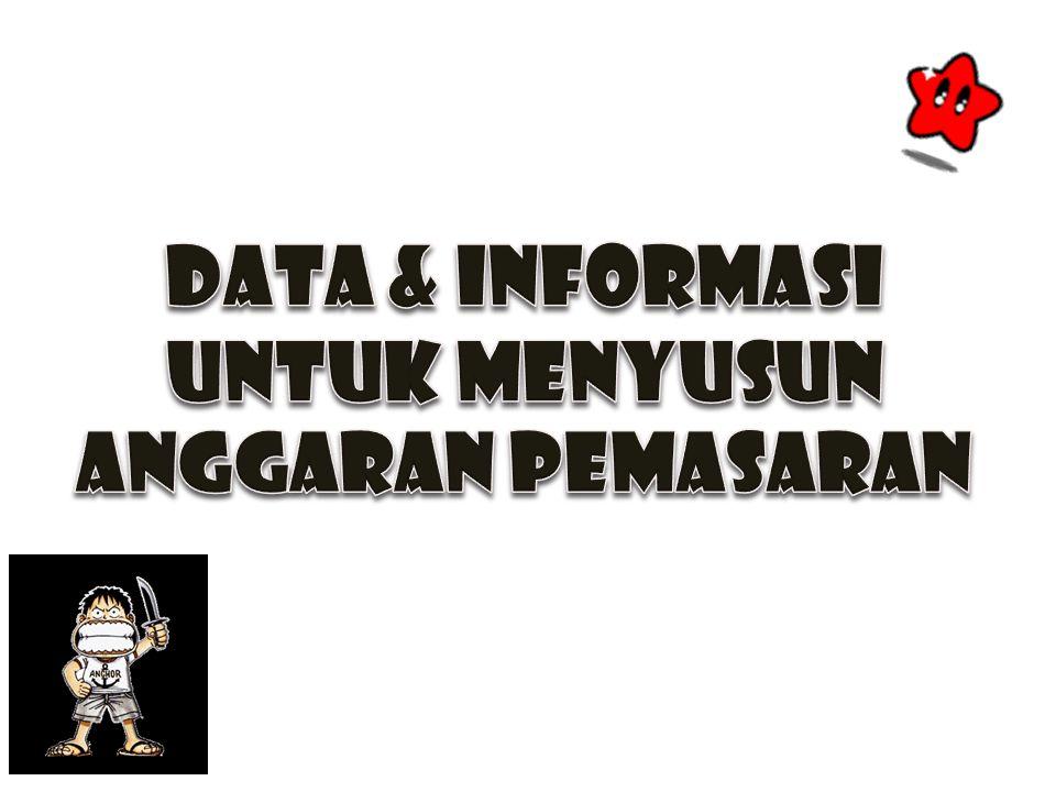 DATA & INFORMASI UNTUK MENYUSUN ANGGARAN PEMASARAN