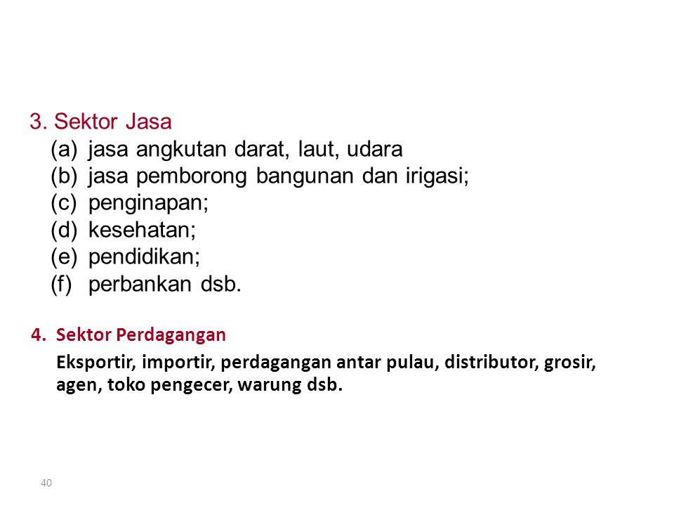SEKTOR USAHA YG DOMINAN DI INDONESIA Lanjutan ….