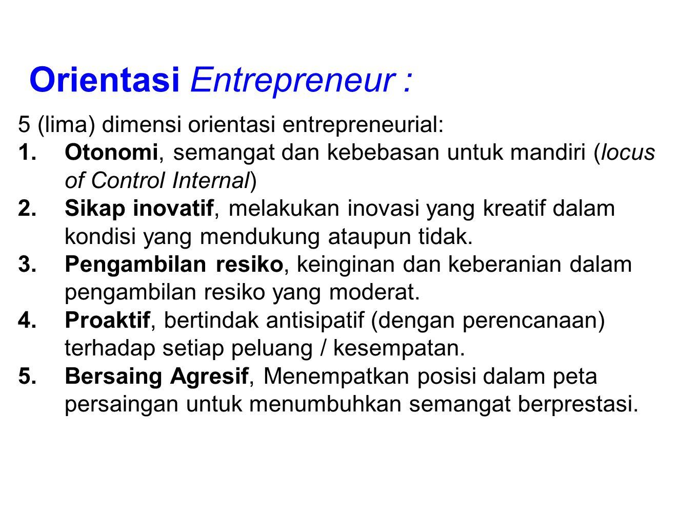 Orientasi Entrepreneur :