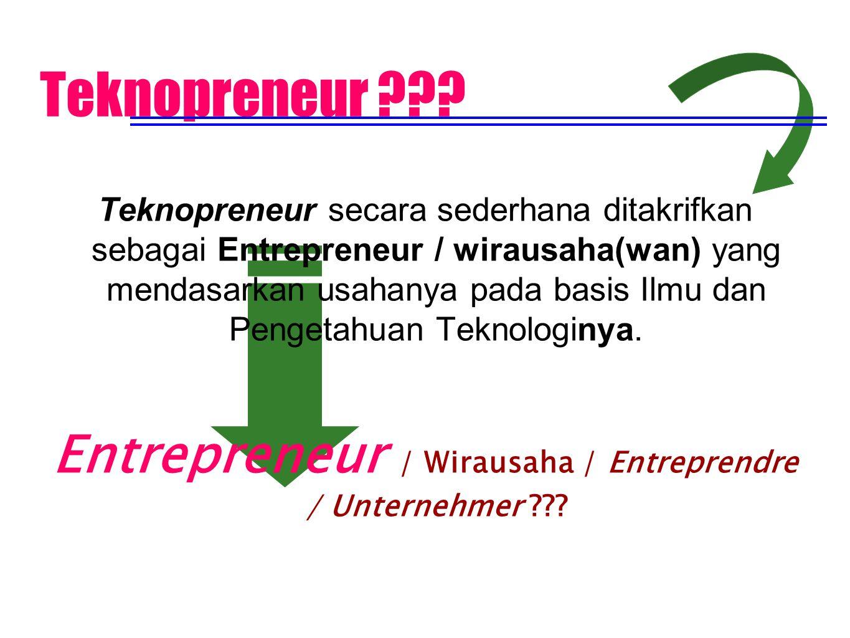 Entrepreneur / Wirausaha / Entreprendre / Unternehmer