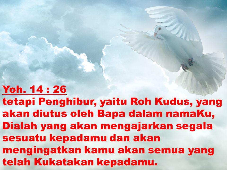Yoh. 14 : 26