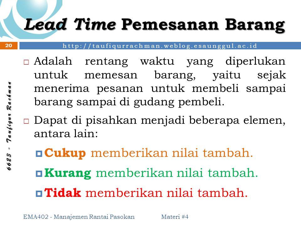 Lead Time Pemesanan Barang