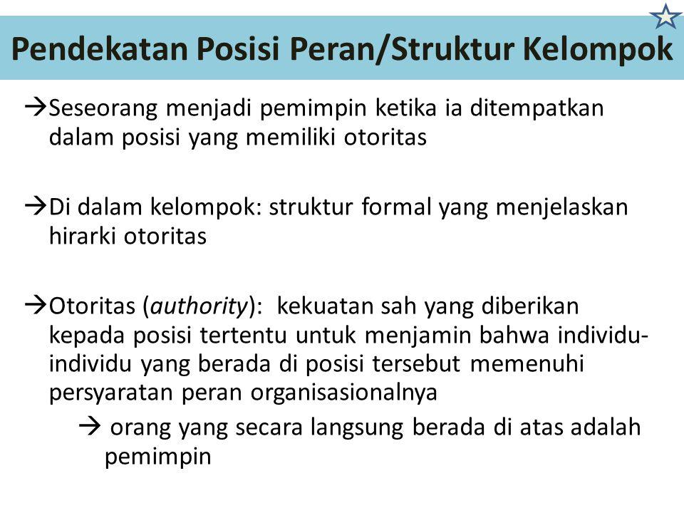Pendekatan Posisi Peran/Struktur Kelompok