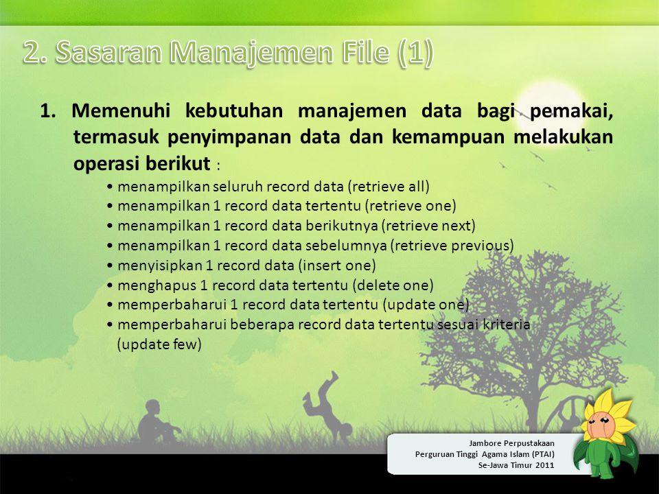 2. Sasaran Manajemen File (1)