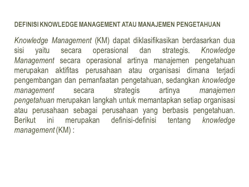 Definisi Knowledge Management atau Manajemen Pengetahuan