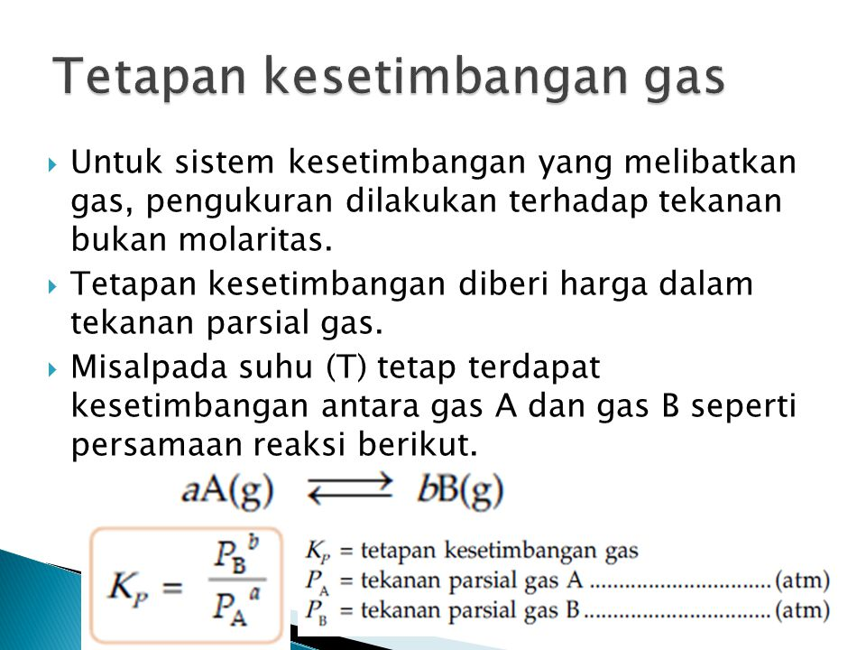 Tetapan kesetimbangan gas
