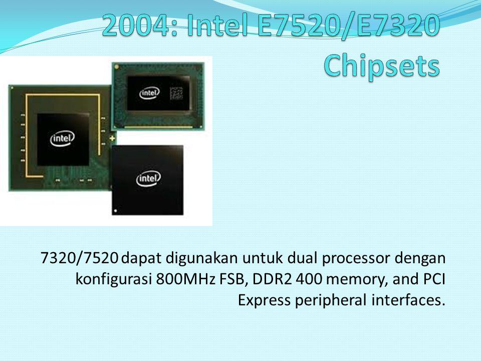 2004: Intel E7520/E7320 Chipsets