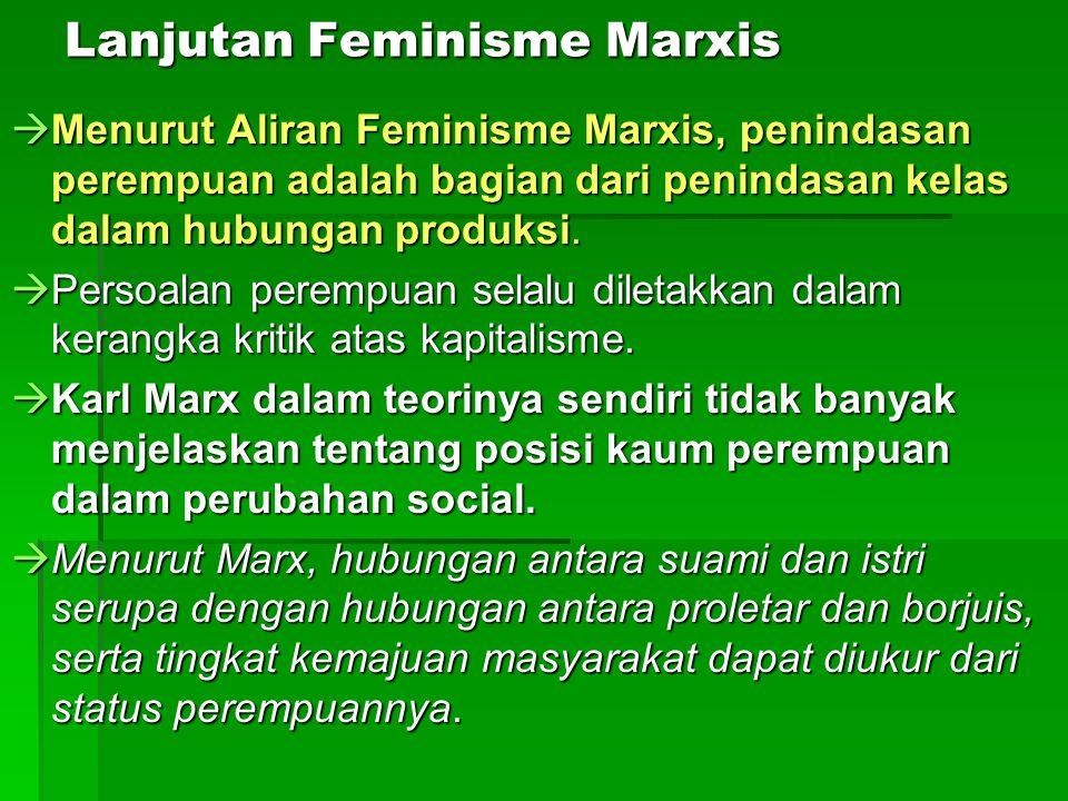 Lanjutan Feminisme Marxis