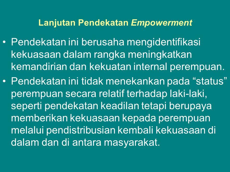 Lanjutan Pendekatan Empowerment