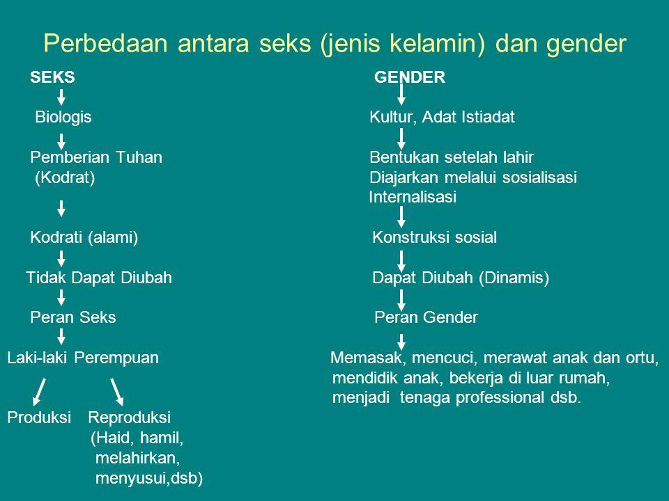 Perbedaan antara seks (jenis kelamin) dan gender