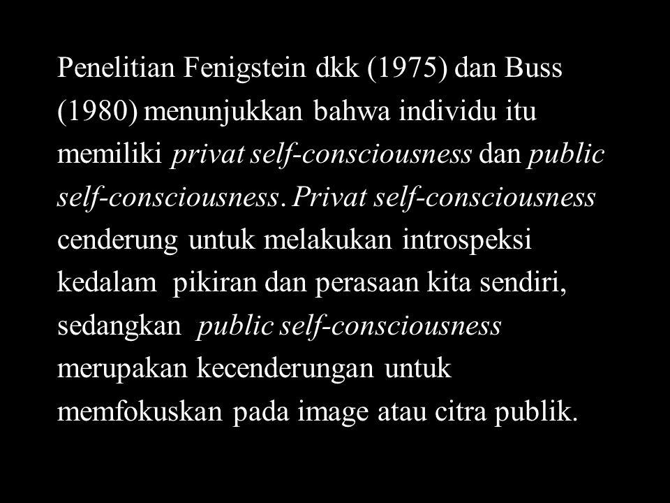 Penelitian Fenigstein dkk (1975) dan Buss