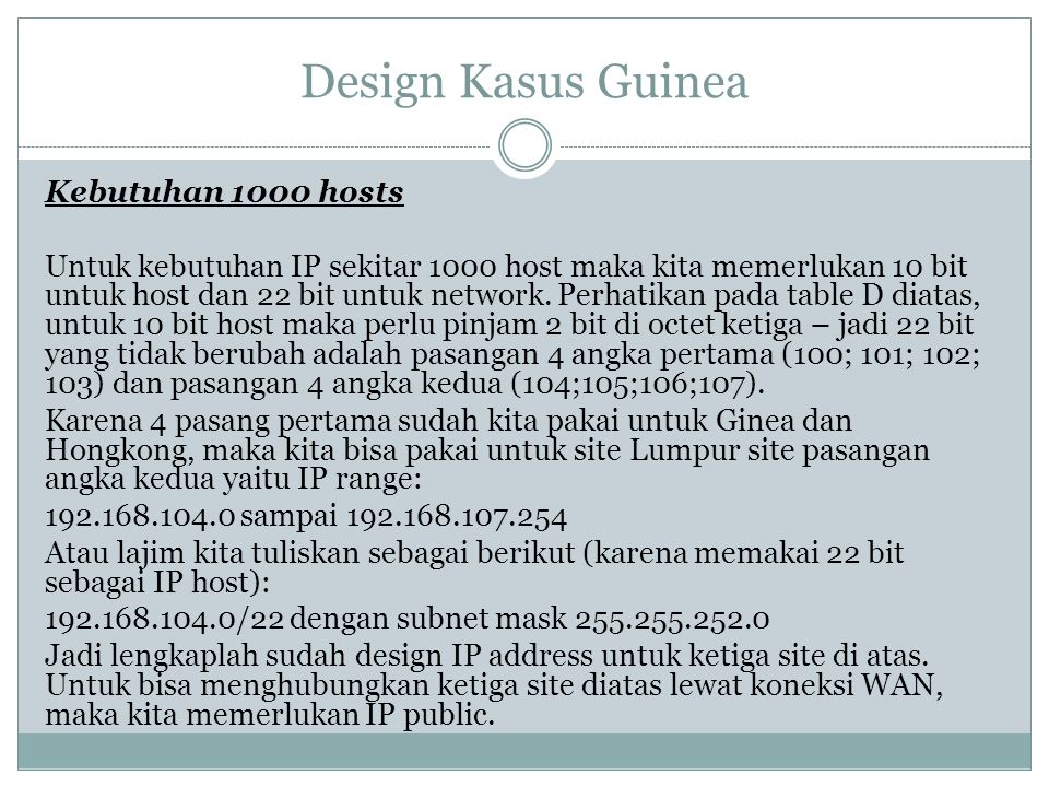 Design Kasus Guinea