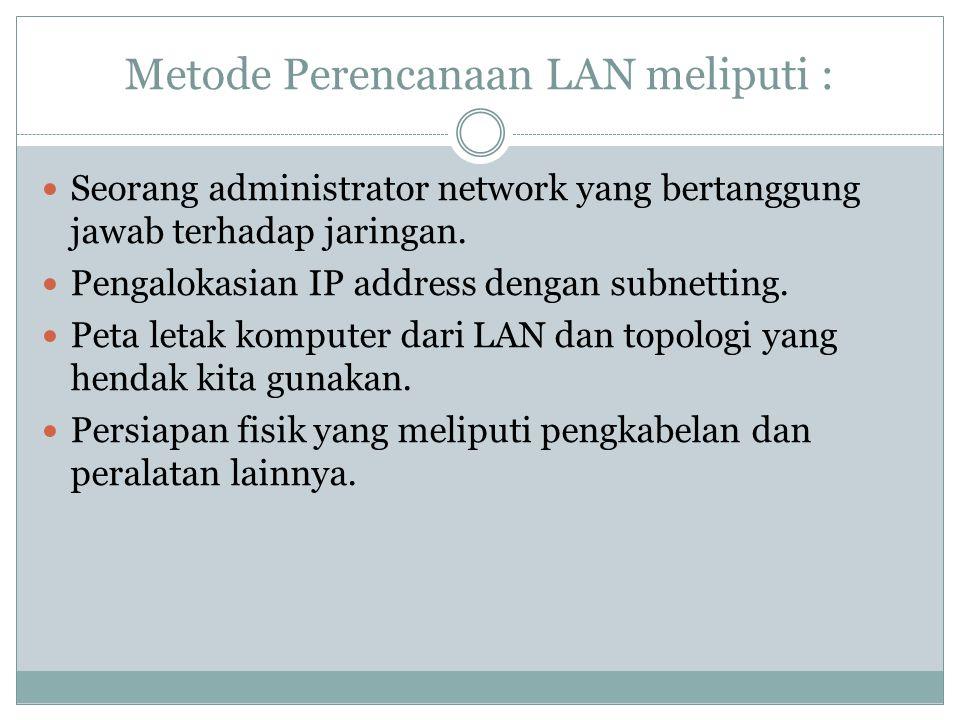 Metode Perencanaan LAN meliputi :