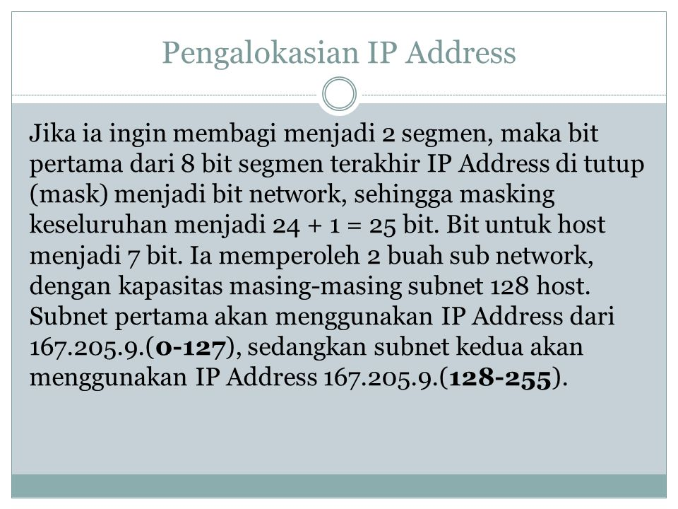 Pengalokasian IP Address