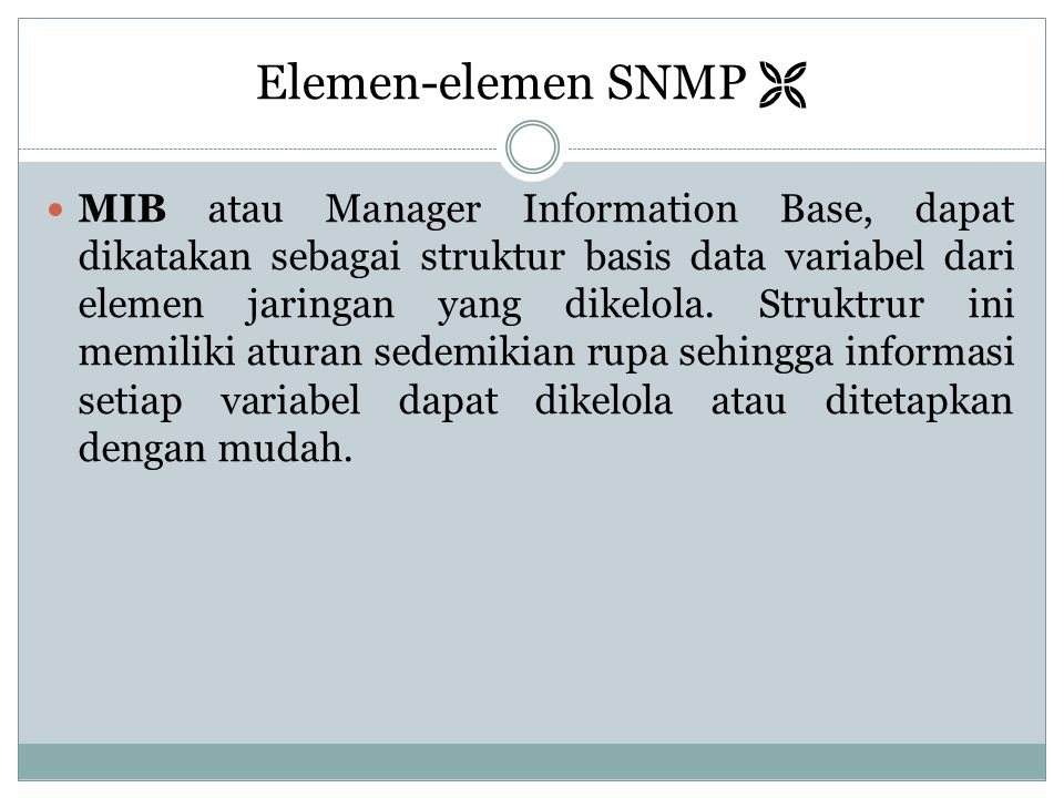 Elemen-elemen SNMP 