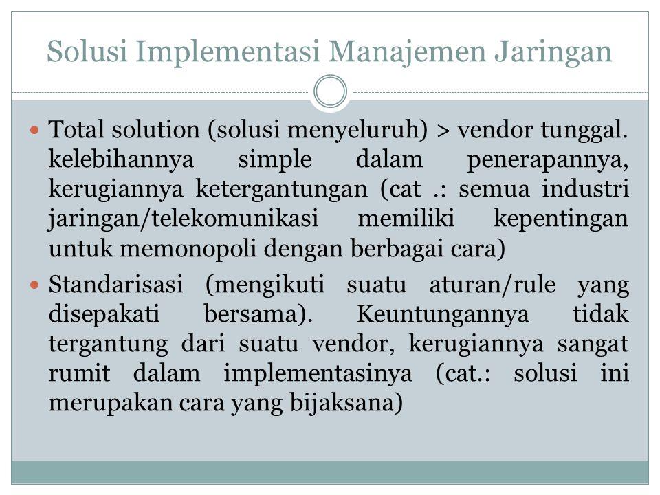 Solusi Implementasi Manajemen Jaringan
