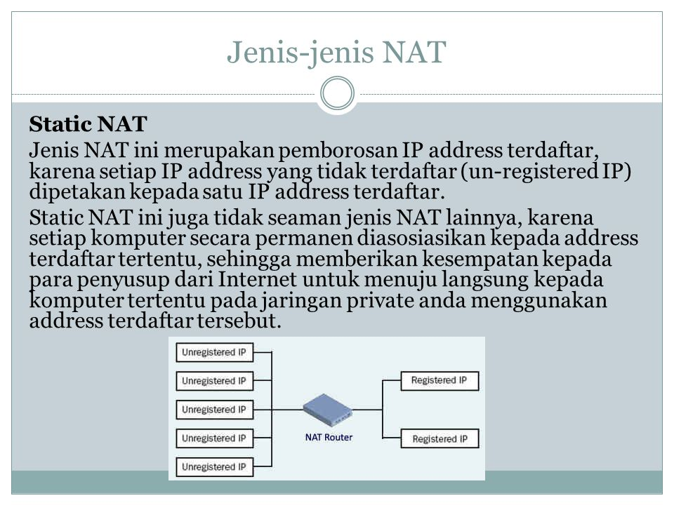 Jenis-jenis NAT