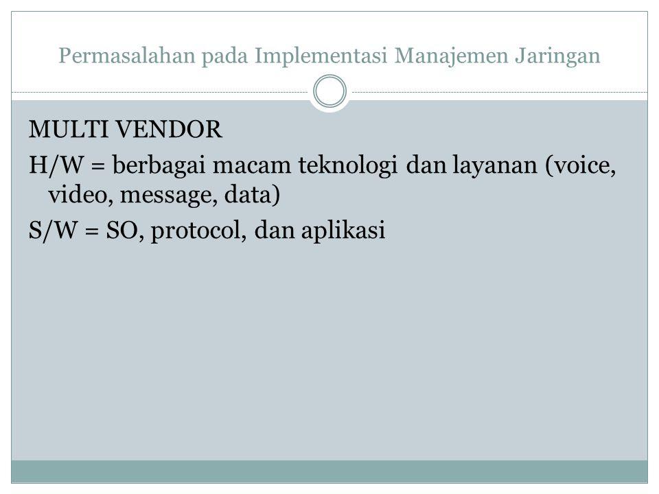 Permasalahan pada Implementasi Manajemen Jaringan