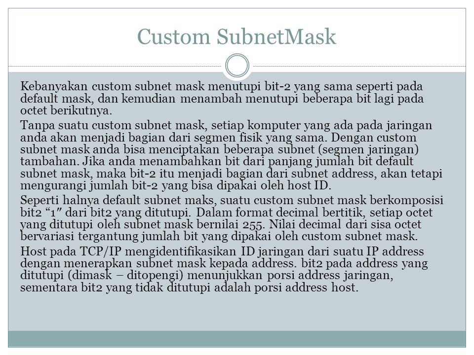 Custom SubnetMask