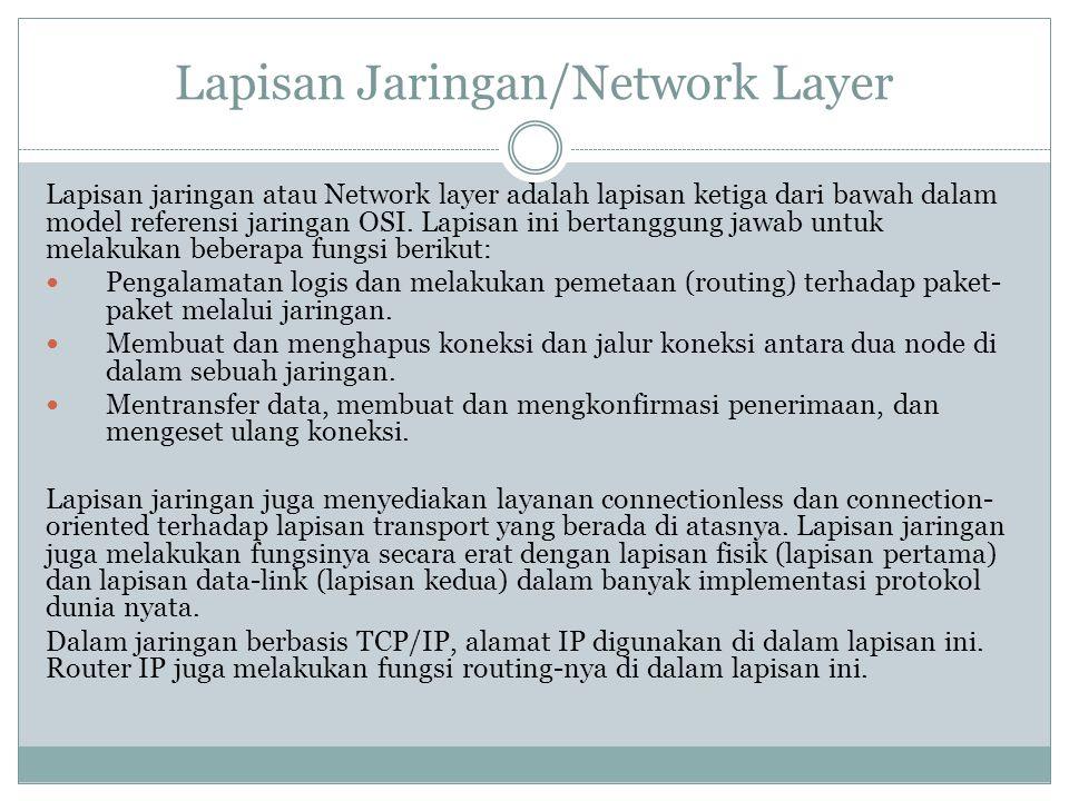Lapisan Jaringan/Network Layer