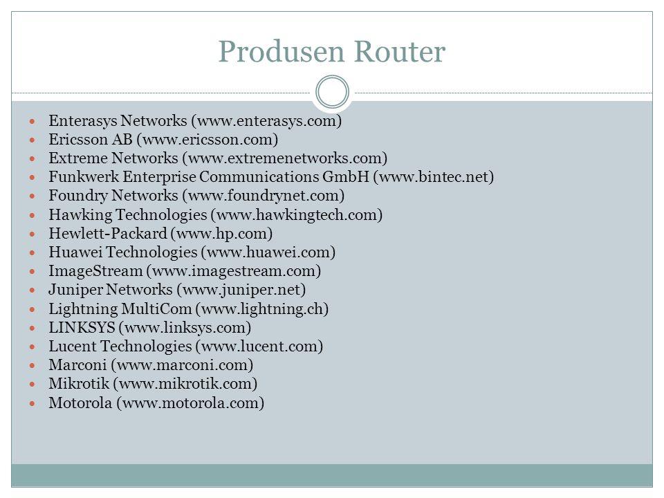 Produsen Router Enterasys Networks (www.enterasys.com)