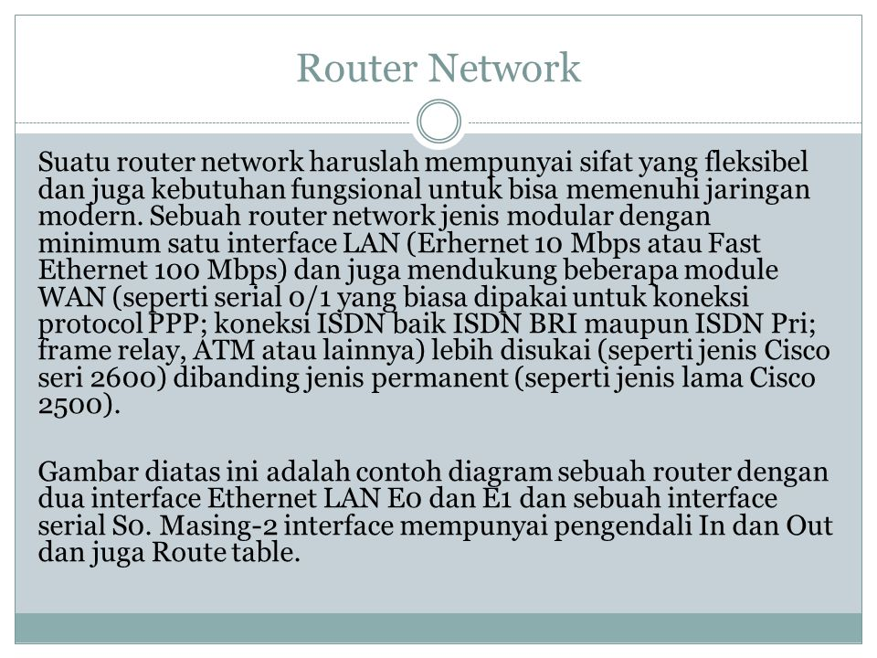 Router Network