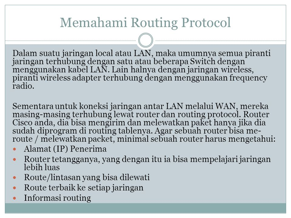 Memahami Routing Protocol