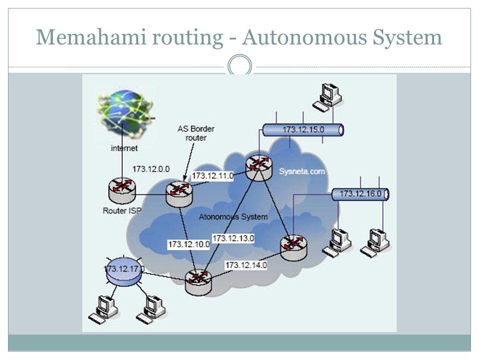 Memahami routing - Autonomous System