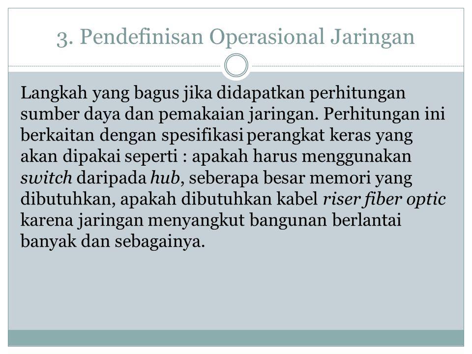 3. Pendefinisan Operasional Jaringan