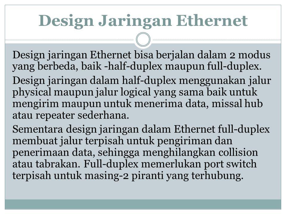 Design Jaringan Ethernet