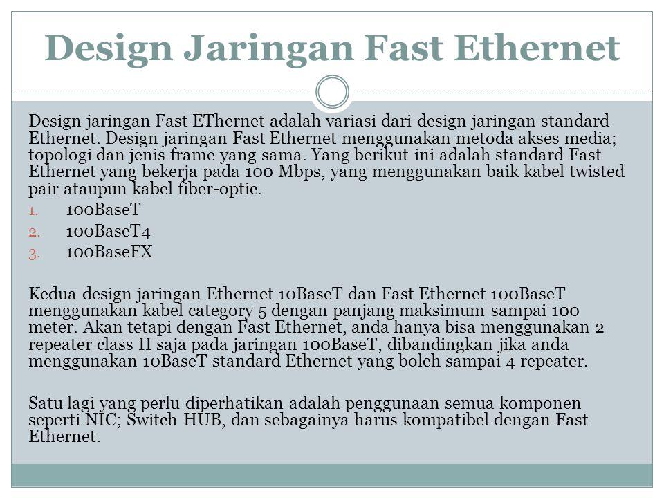 Design Jaringan Fast Ethernet